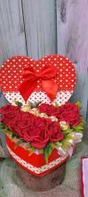 Valentín napi polifoam szívecskéket
