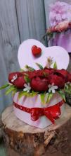 Valentín napi polifoam szívecskék