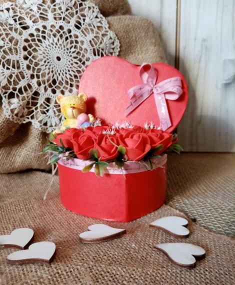 Valentin napi rózsa box