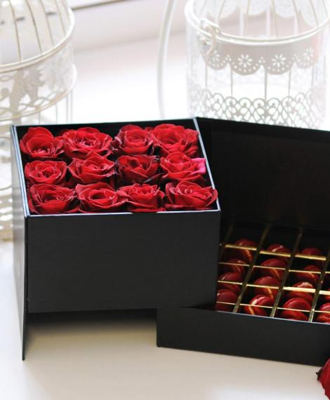 Rózsabox macaronnal